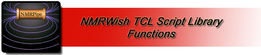 NMRWish TCL Library Procedures